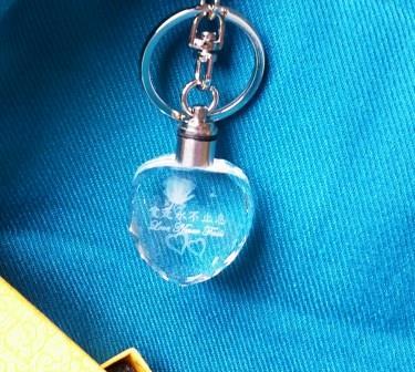 水晶鑰匙圈-愛是永不止息