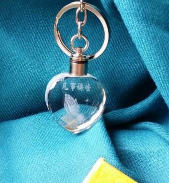 水晶鑰匙圈-凡事禱告