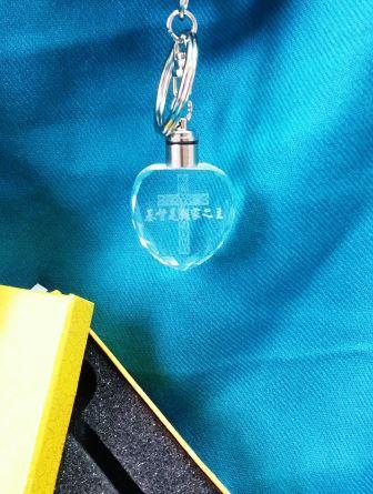 水晶鑰匙圈-基督是我家之主